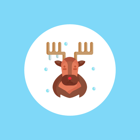 Deer Head Icon on white Background. Vector Illustration.