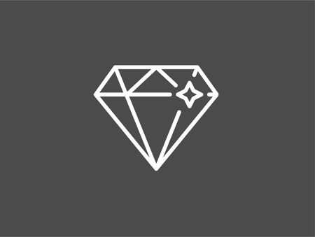 Diamond line icon, outline vector sign, linear style pictogram isolated on white. Jewelry symbol, logo illustration. Editable stroke Ilustrace