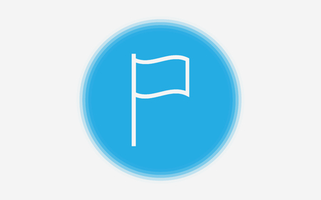 Flag line icon, outline vector sign, linear style pictogram isolated on white. Symbol, logo illustration. Editable stroke. Pixel perfect