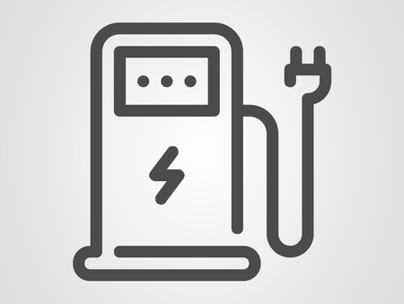 Gas station icon - graphic elements for your design Illustration