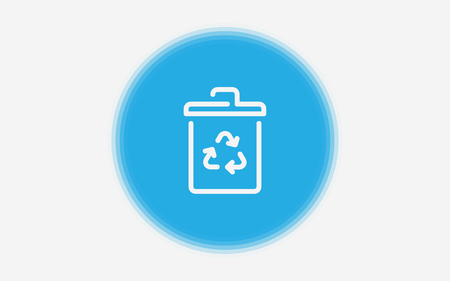 garbage can icon. Element of simple icon for websites, web design, mobile app, info graphics. Signs and symbols collection icon for design and development on white background