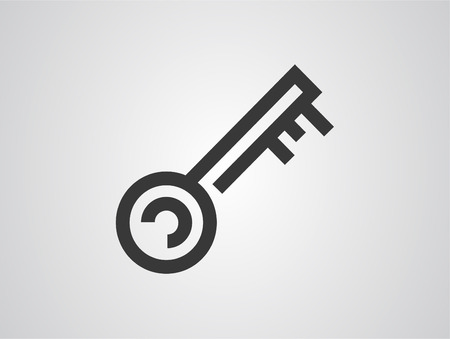 key icon. Element of lock and keys icons for mobile concept and web apps. Badge style key icon can be used for web and mobile apps. Internet, secret.
