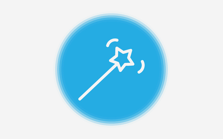 magic wand icon. Element of minimalistic icon for mobile concept and web apps. Signs and symbols collection icon for websites, web design, mobile app on white background