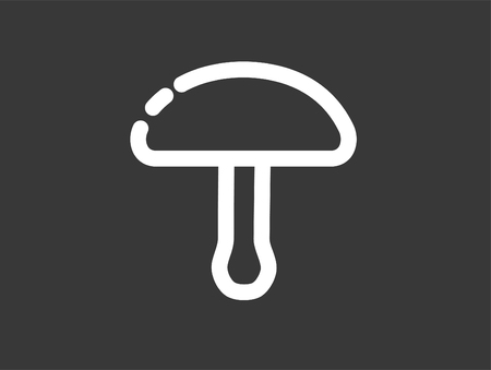 Modern mushroom line icon. Premium pictogram isolated on a white background. Vector illustration. Stroke high quality symbol. Mushroom icon in modern line style.  イラスト・ベクター素材