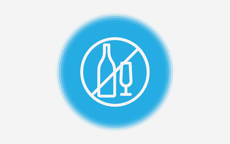Premium no alcohol icon or logo in line style. High quality sign and symbol on a white background. Vector outline pictogram for infographic, web design and app development.