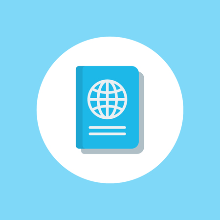 passport and hotel ticket icon. Element of hotel icons for mobile concept and web apps. Badge style passport and hotel ticket icon can be used for web and mobile apps on white background