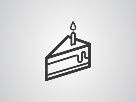 Piece of cake icon vector, filled flat sign, solid pictogram isolated on white. Symbol, logo illustration.