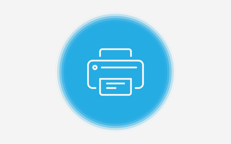 Printer icon. Element of web icons for mobile concept and web apps. Sticker style Printer icon can be used for web and mobile apps on white background