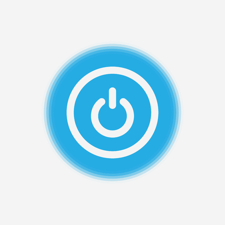 Power on off button sign icon, illustration. Flat design style. Black and white icon Illustration