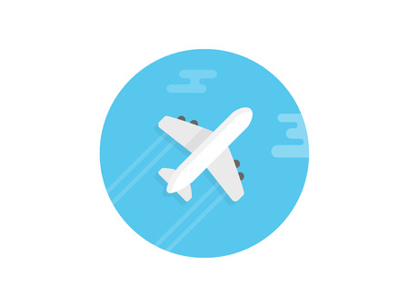 plane view from the front icon. Element of travel icon for mobile concept and web apps. Detailed plane view from the front icon can be used for web and mobile. Premium icon on white background