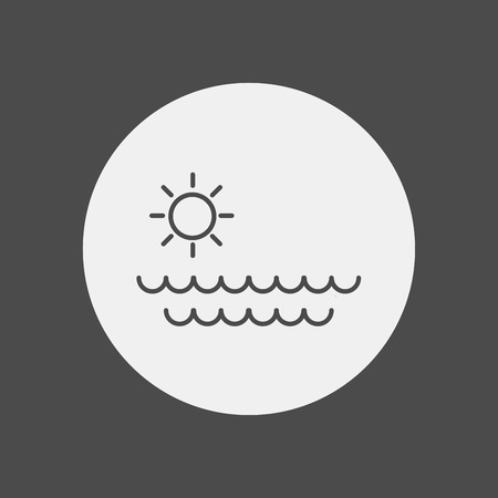 Sea waves icon vector, filled flat sign, solid pictogram isolated on white. Water symbol, logo illustration. Pixel perfect vector graphics