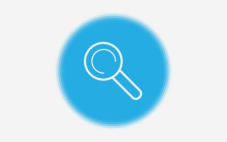 Magnifying glass,research,find icon vector,lens,look magnifier.loupe sign, modern flat symbol vector illustration Illustration