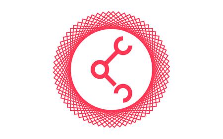 Connection Symbol, Share Sign, Vector Illustration Design connection, icon, network, internet, web, vector, communication Illustration