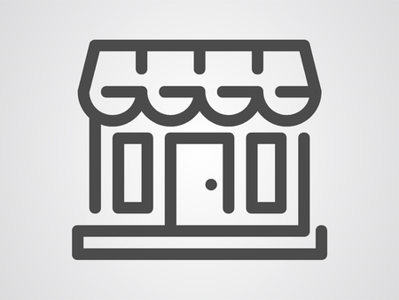 kiosk shop icon. Element of market icon for mobile concept and web apps. Detailed kiosk shop icon can be used for web and mobile. Premium icon on white background Vectores
