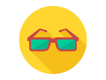Sun glasses icon. Simple illustration of sun glasses icon for web design isolated on white background