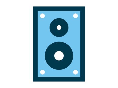 Speaker line icon. High quality black outline logo for web site design and mobile apps. Vector illustration on a white background. Illustration
