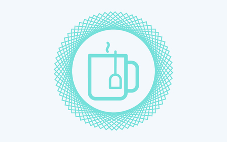 cup of tea colored outline icon. Element of food icon for mobile concept and web apps. Thin line cup of tea icon can be used for web and mobile on white background Illustration