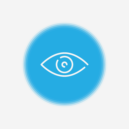 Beautiful, meticulously designed Eye Icon. Perfect for use in designing and developing websites, printed materials and presentations, Promotional Materials, Illustrations or Infographics or any type of design projects