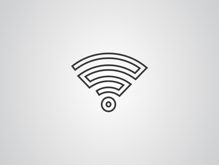Wifi technology symbol. Wireless and wifi icon. Sign for remote internet access. Podcast vector symbol. Simple vector