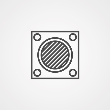 Washable Air Filter silhouette icon. Clipart image isolated on white background Illustration