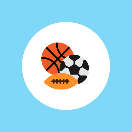 Vector play sport balls logo icon isolated objects set on white background