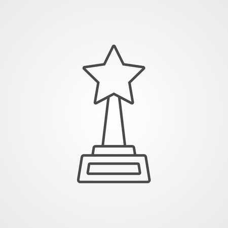 Award Medal simple icon. Winner achievement symbol. Glory or Honor sign. Quality design elements. Classic style. Vector Ilustração