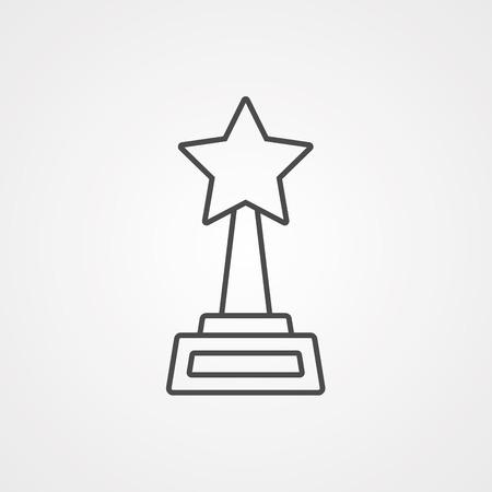 Award Medal simple icon. Winner achievement symbol. Glory or Honor sign. Quality design elements. Classic style. Vector Illusztráció