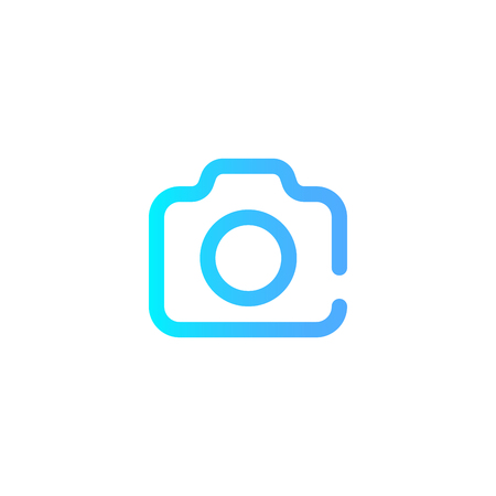 Camera flat icon, travel tourism, photo and shoot, a colorful solid pattern on a white background, eps 10.