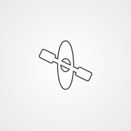 Canoe icon. Simple illustration of canoe icon for web design isolated on white background