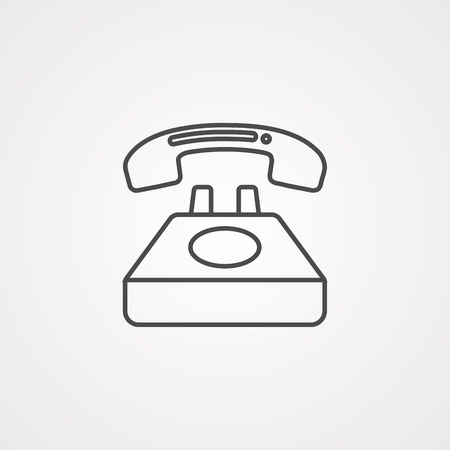 desk phone icon. Media signs for mobile concept and web apps. Thin line icon for website design and development, app development.