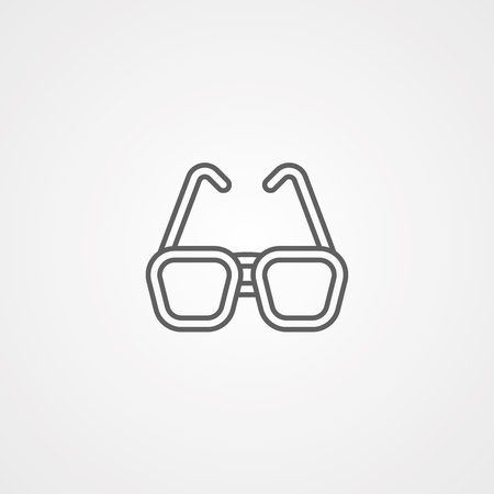 Glasses line icon, outline vector sign, linear style pictogram isolated on white. Symbol, logo illustration. Editable stroke 免版税图像 - 107730555