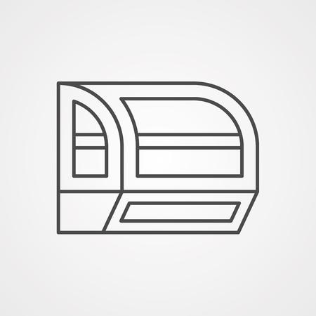 Fridge,refridgirator vector line icon, sign, illustration on white background, editable strokes