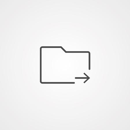 Folder line icon, outline vector sign, linear style pictogram isolated on white. Symbol, logo illustration. Editable stroke