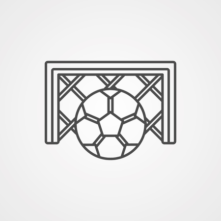 Soccer or football ball flat icon, isolated on white background. Eps file available.