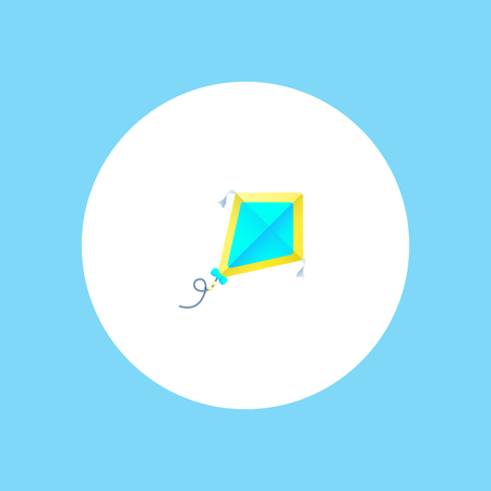 Kite flying vector icon in simple outline style. These icons are perfect for your websites and applications. All icons in the vector, and you can easily change the color and size.