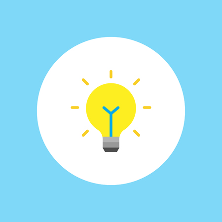 Light bulb icon. Idea flat vector illustration. Icons for design, background, website.