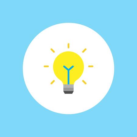Light bulb icon. Idea flat vector illustration. Icons for design, background, website.