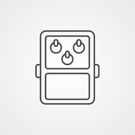 guitar effects pedal and stomp boxes, Overdrive, Distortion, vector illustration