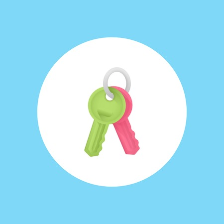 key icon. Element of lock and keys icons for mobile concept and web apps. Badge style key icon can be used for web and mobile apps on white background Illustration