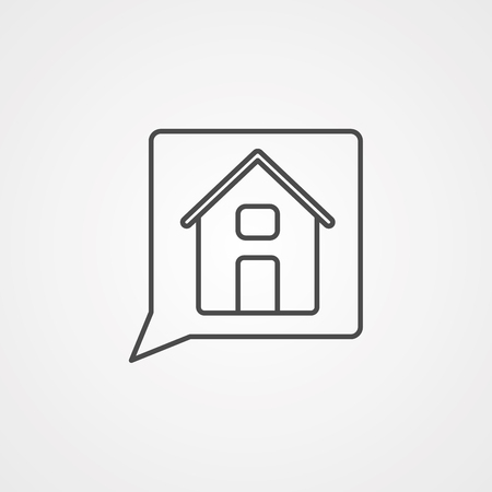 Home, house line icon, outline vector sign, linear style pictogram isolated on white.