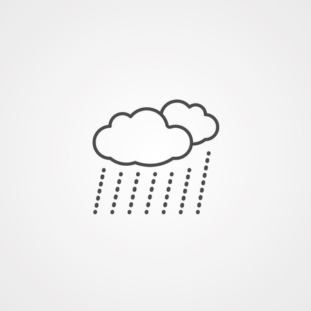 rain cloud icon. Element of web icons. Premium quality graphic design icon. Signs and symbols collection icon for websites, web design, mobile app on white background  イラスト・ベクター素材