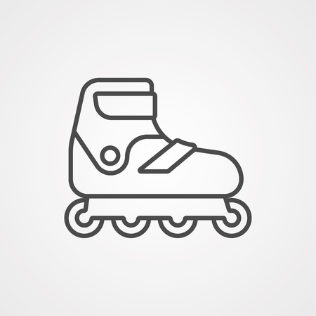 Roller skate icon vector isolated on white background for your web and mobile app design, Roller skate logo concept Ilustrace