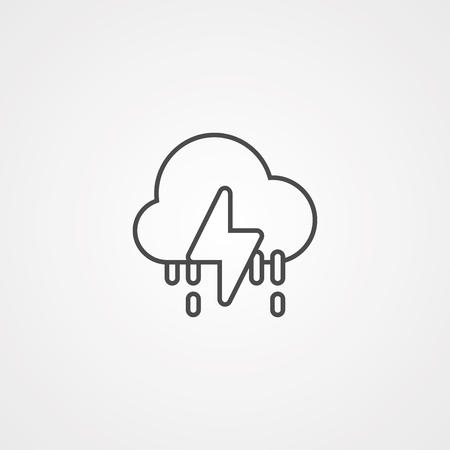 storm cloud icon. Element of weather icon. Premium quality graphic design. Signs and symbols collection icon for websites, web design, mobile app on white background