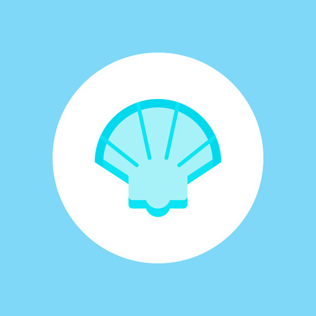 Pearl shell vector line icon, sign, illustration on white background, editable strokes