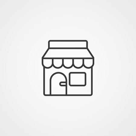kiosk shop icon. Element of market icon for mobile concept and web apps. Detailed kiosk shop icon can be used for web and mobile. Illustration