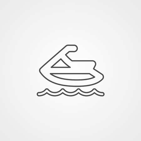 Jet ski icon vector isolated on grey background.jet ski icon vector isolated on grey background
