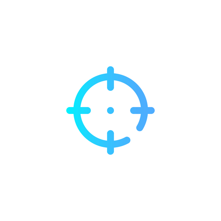 target icon. Element of web icons. Premium quality graphic design icon. Signs and symbols collection icon for websites, web design, mobile app on white background Illustration