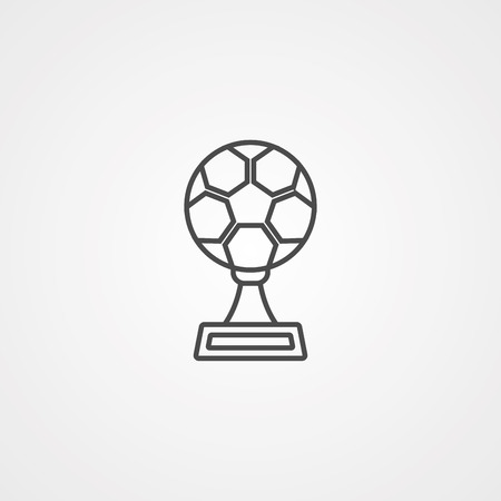 Trophy icon vector isolated on white background, Trophy transparent sign Illustration