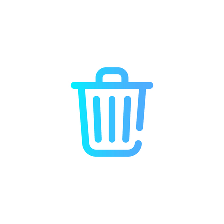 trash can icon. Element of minimalistic icon for mobile concept and web apps. Signs and symbols collection icon for websites, web design, mobile app on white background