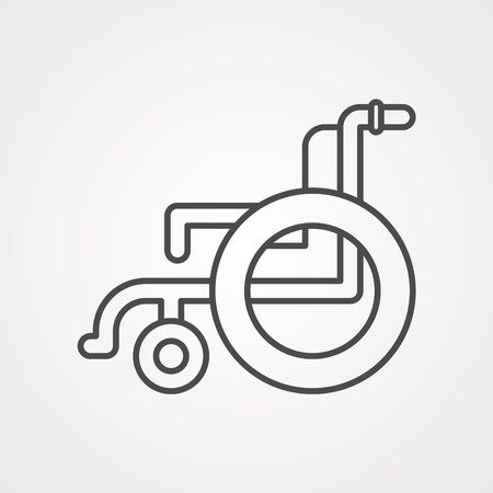 Wheelchair Thin Line Vector Icon. Flat Icon Isolated on the White Background. Editable Stroke  file. Vector illustration.